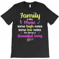 Family Is Like Music Some High Notes Somes Low Notes But Always A Beau T-Shirt | Artistshot