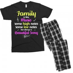 Family Is Like Music Some High Notes Somes Low Notes But Always A Beau Men's T-shirt Pajama Set | Artistshot