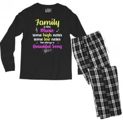 Family Is Like Music Some High Notes Somes Low Notes But Always A Beau Men's Long Sleeve Pajama Set | Artistshot