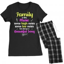 Family Is Like Music Some High Notes Somes Low Notes But Always A Beau Women's Pajamas Set | Artistshot