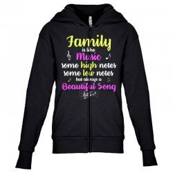 Family Is Like Music Some High Notes Somes Low Notes But Always A Beau Youth Zipper Hoodie | Artistshot