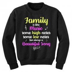 Family Is Like Music Some High Notes Somes Low Notes But Always A Beau Youth Sweatshirt | Artistshot