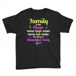 Family Is Like Music Some High Notes Somes Low Notes But Always A Beau Youth Tee | Artistshot