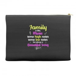 Family Is Like Music Some High Notes Somes Low Notes But Always A Beau Accessory Pouches | Artistshot
