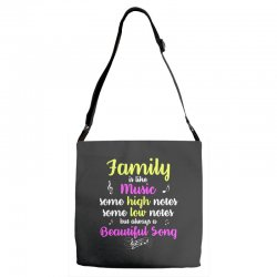 Family Is Like Music Some High Notes Somes Low Notes But Always A Beau Adjustable Strap Totes | Artistshot
