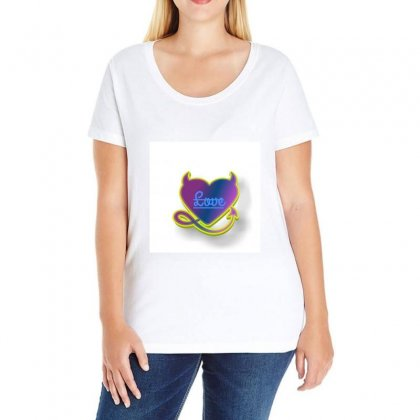 Love Ladies Curvy T-shirt Designed By Anand