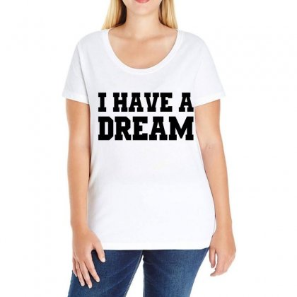 I Have A Dream (black) Ladies Curvy T-shirt Designed By Black White
