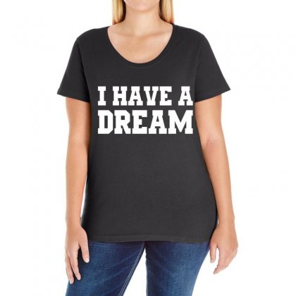 I Have A Dream Ladies Curvy T-shirt Designed By Black White
