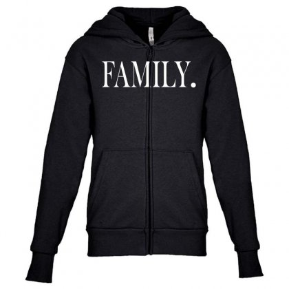 Family (white) Youth Zipper Hoodie Designed By Blue