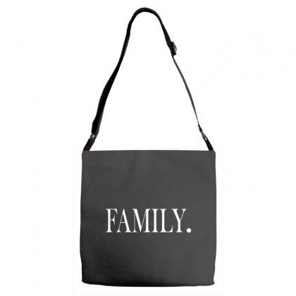 Family (white) Adjustable Strap Totes Designed By Blue