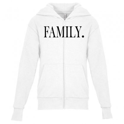 Family Youth Zipper Hoodie Designed By Blue