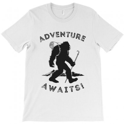 Adventure Awaits Bigfoot T-shirt Designed By Blqs Apparel
