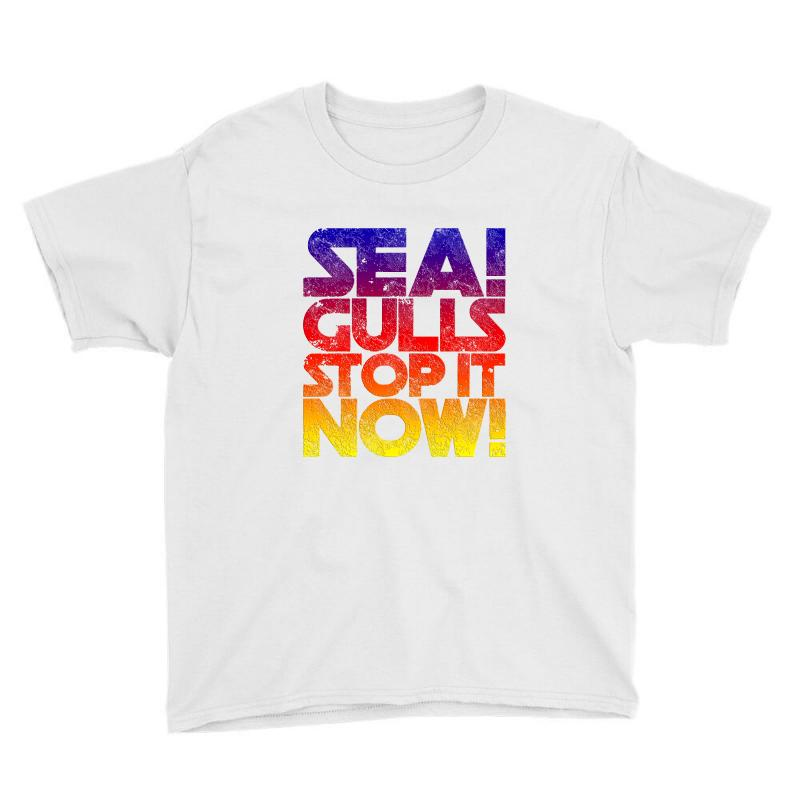 80b4298a Custom Seagulls Stop It Now- Distressed Vintage Youth Tee By Blqs ...
