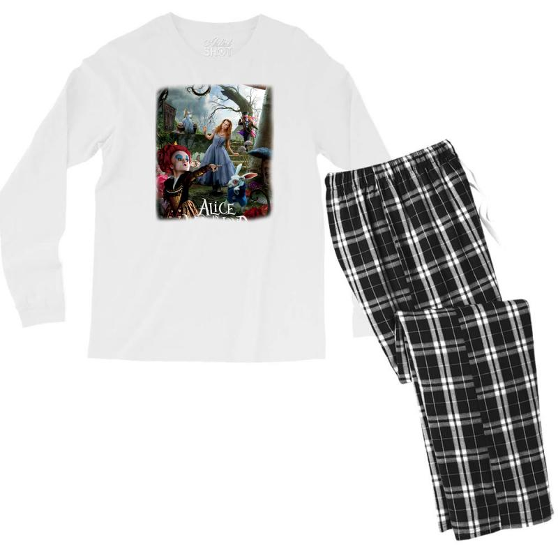 Alice In Wonderland Men's Long Sleeve Pajama Set | Artistshot