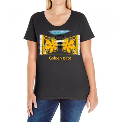 Golden Gate Ladies Curvy T-shirt Designed By Issam