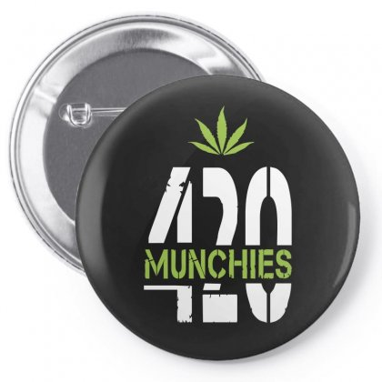 420 Munchies Weed Leaf Pin-back Button Designed By Mdk Art
