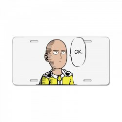 funny one punch man anime saitama hero casual workout cool 2019 License Plate | Artistshot