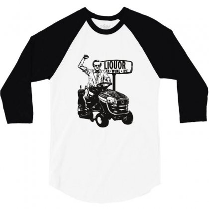 George Jones T Shirts George Jones Riding Lawn Mower Outlaw Country Te 3/4 Sleeve Shirt