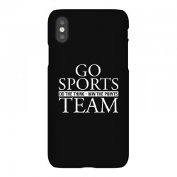 go sports do the thing win the points team iPhoneX Case | Artistshot