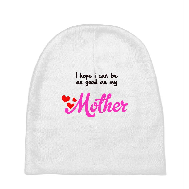 3c34f697223 Custom Mother Mama Mami Daughter Son Motherly Love Baby Beanies By Blqs  Apparel - Artistshot
