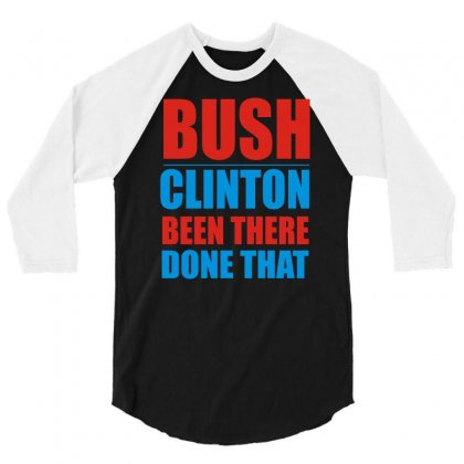 Bush Clinton Large 3/4 Sleeve Shirt Designed By Mdk Art