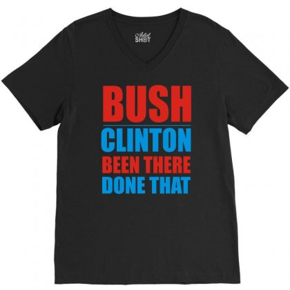 Bush Clinton Large V-neck Tee Designed By Mdk Art