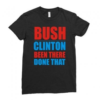 Bush Clinton Large Ladies Fitted T-shirt Designed By Mdk Art