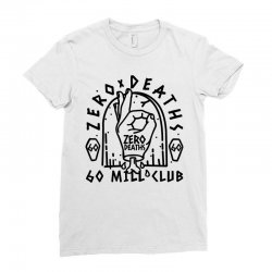 pewdiepie zero deaths 60 mill club Ladies Fitted T-Shirt | Artistshot