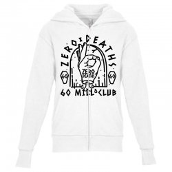 pewdiepie zero deaths 60 mill club Youth Zipper Hoodie | Artistshot