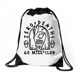 pewdiepie zero deaths 60 mill club Drawstring Bags | Artistshot