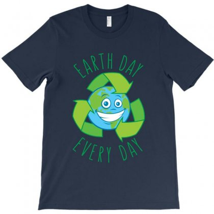 Earth Day Every Day Recycle Cartoon T-shirt Designed By Fizzgig