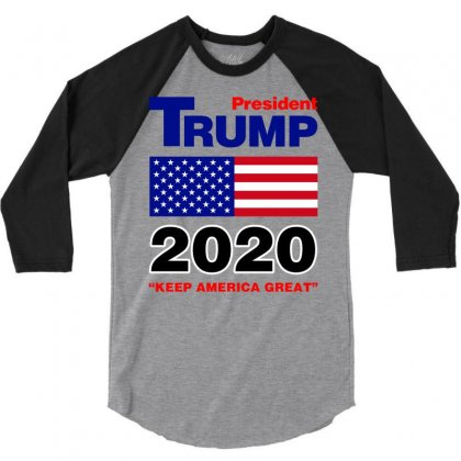 President Trump 2020 3/4 Sleeve Shirt Designed By Nurbetulk