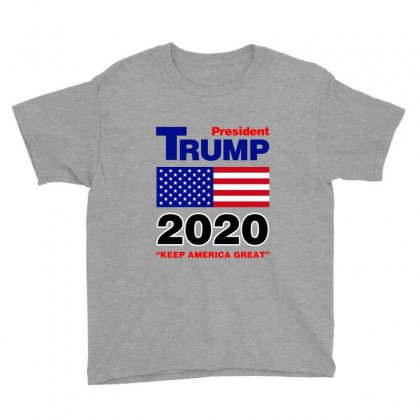President Trump 2020 Youth Tee Designed By Nurbetulk