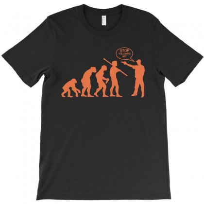 Funny Evolution Stop Following Me T-shirt Designed By Yesairish