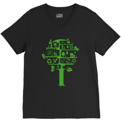 Ecology Club V-neck Tee Designed By Yesairish