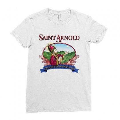 Saint Arnold Ladies Fitted T-shirt Designed By Yesairish
