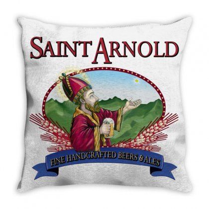 Saint Arnold Throw Pillow Designed By Yesairish
