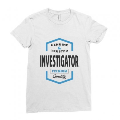 Investigator Ladies Fitted T-shirt Designed By Ale Ceconello
