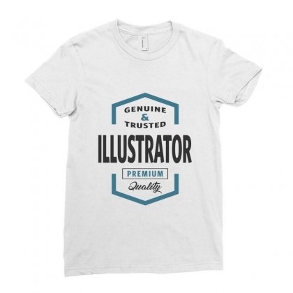 Illustrator Ladies Fitted T-shirt Designed By Ale Ceconello