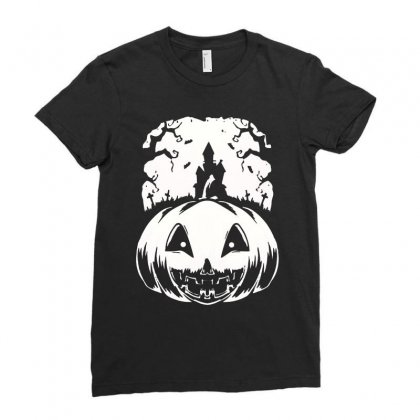 Halloween Ladies Fitted T-shirt Designed By Blqs Apparel
