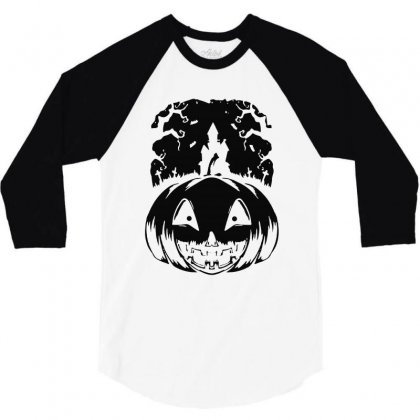 Halloween 3/4 Sleeve Shirt Designed By Blqs Apparel