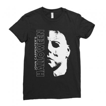 Halloween Michael Myers Ladies Fitted T-shirt Designed By Blqs Apparel