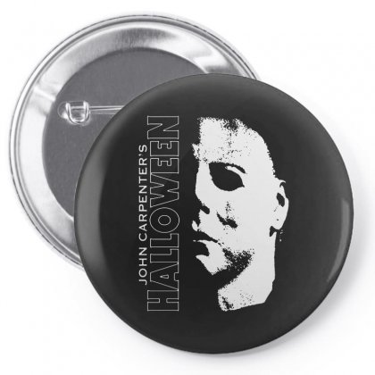 Halloween Michael Myers Pin-back Button Designed By Blqs Apparel
