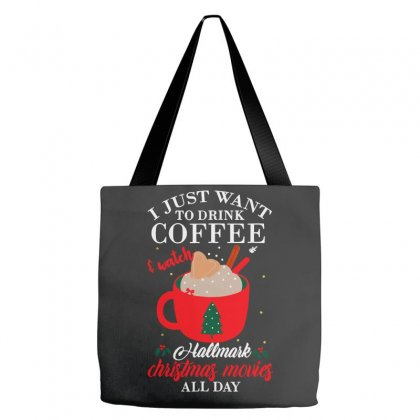 I Just Want Coffee & Hallmark Chirtmas Movie Tote Bags Designed By Blqs Apparel