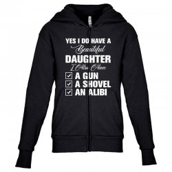 yes i do have a beautiful for dark Youth Zipper Hoodie | Artistshot