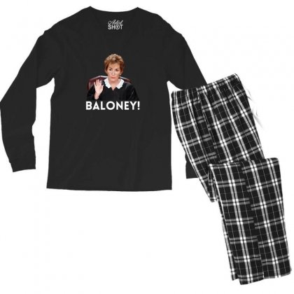 Judge Judy Baloney For Dark Men's Long Sleeve Pajama Set Designed By Sengul