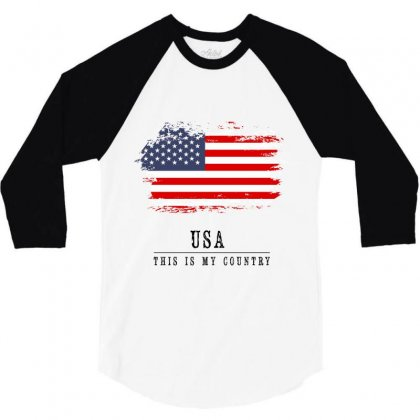 United States Of America 3/4 Sleeve Shirt Designed By Chris Ceconello