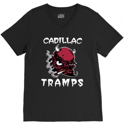 Cadillac Tramps V-neck Tee Designed By Kizaide