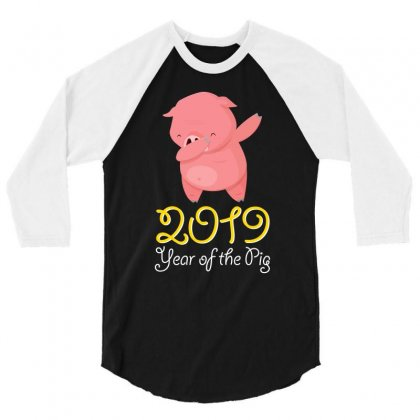 Year Of The Pig 3/4 Sleeve Shirt Designed By Thanhcool