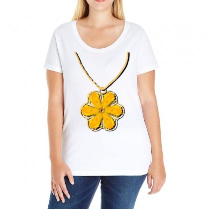 Necklace Ladies Curvy T-shirt Designed By Issam